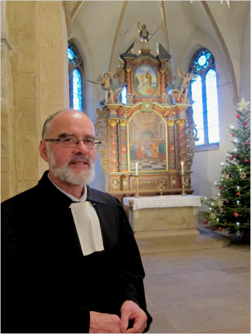 Pfarrer Werner Posner bei der Verabschiedung in Harpen